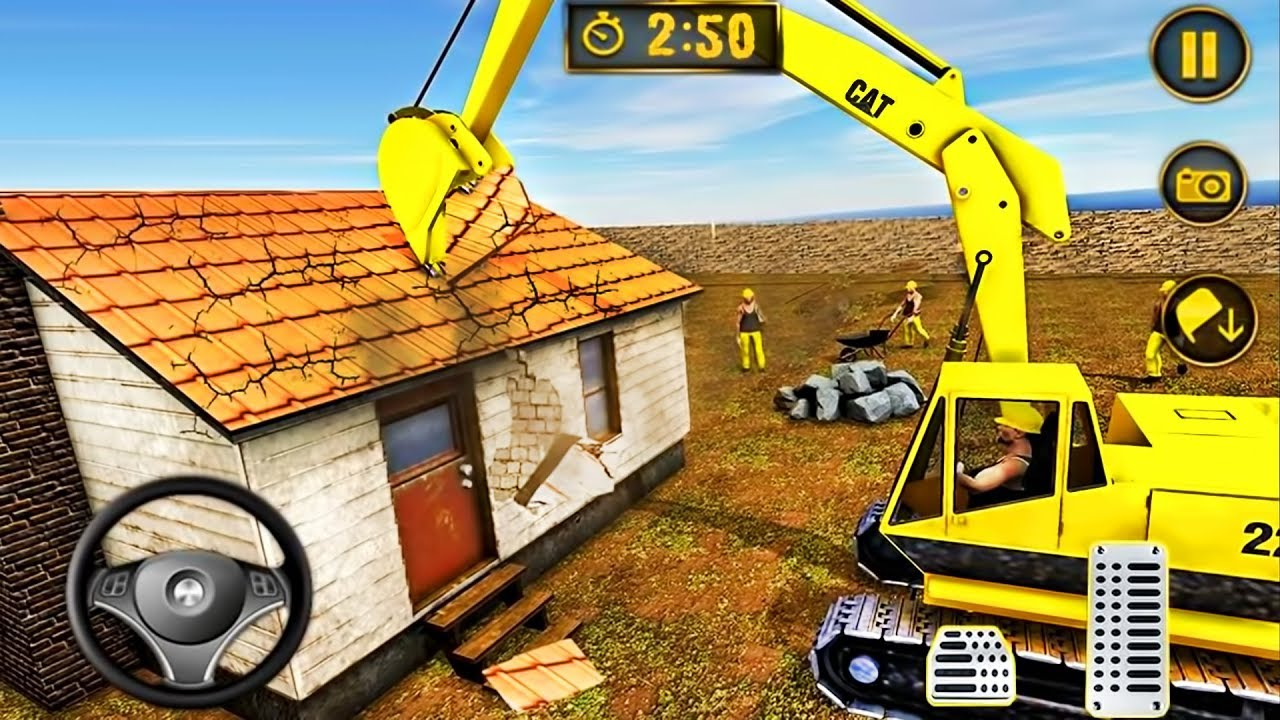 Download Wrecking Crane House Moving - Excavator Construction Simulator 2019 - Android GamePlay