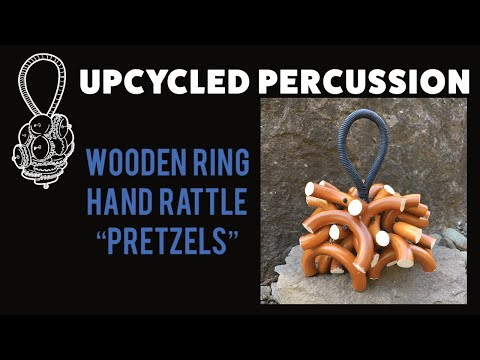 Upcycled Percussion - Wooden Curtain Ring Hand Rattle