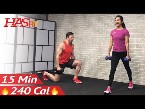 15 Minute HIIT Workout for Fat Loss & Strength: Tabata High Intensity Interval Training Home Routine