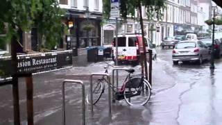 Wateroverlast Frederikstraat Den Haag