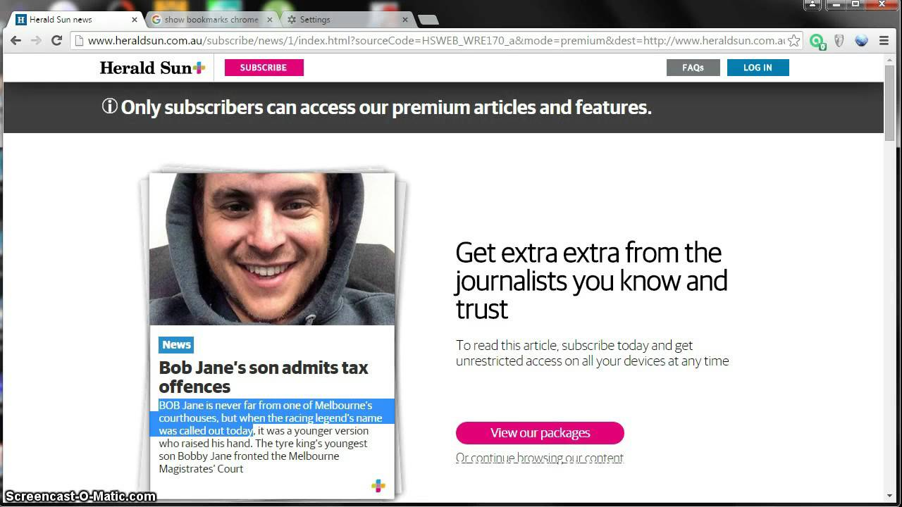 How to read premium content on the Herald Sun for free  Very Easy