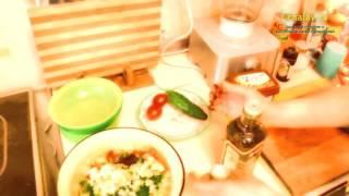Зимний витаминный салат с соевой пастой