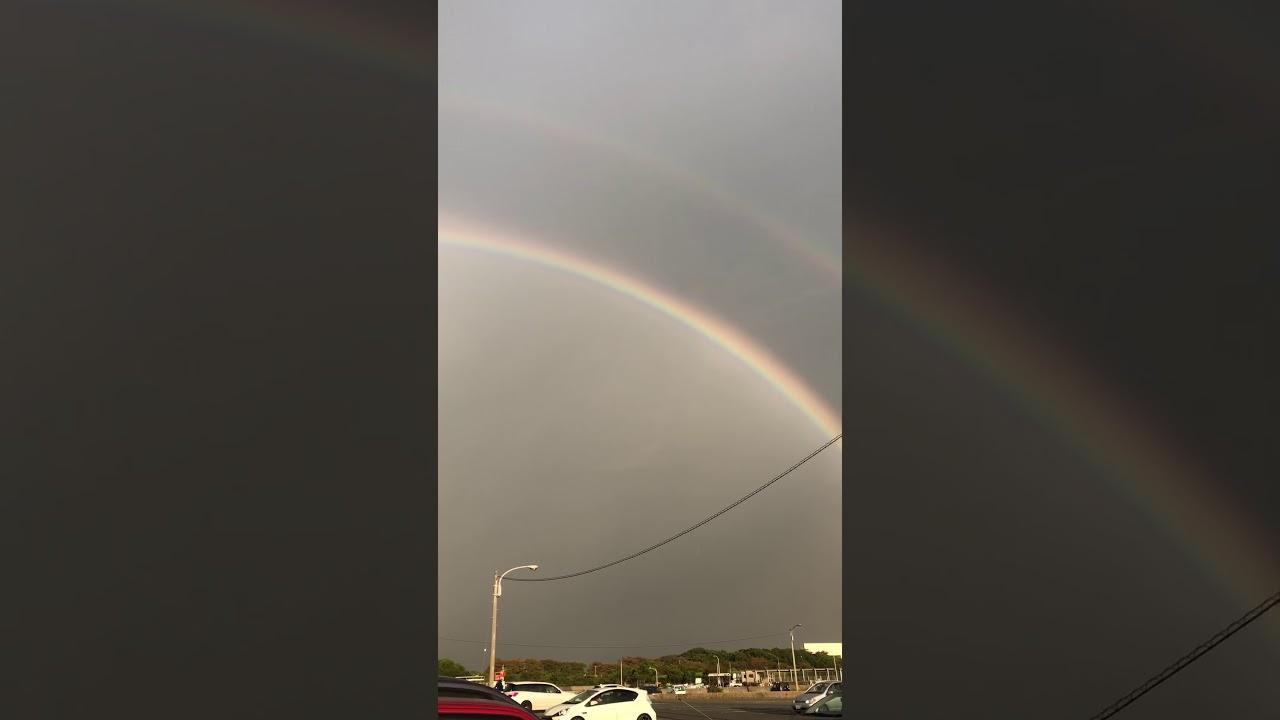 5分後に消えていた奇跡の虹アーチ
