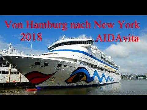 Transatlantik-Reise Von Hamburg Nach New York / AIDAvita 2018/ Highlights