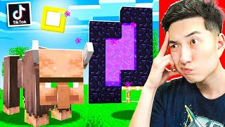 Testing VIRAL TikTok MINECRAFT HACKS to See IF THEY WORK!
