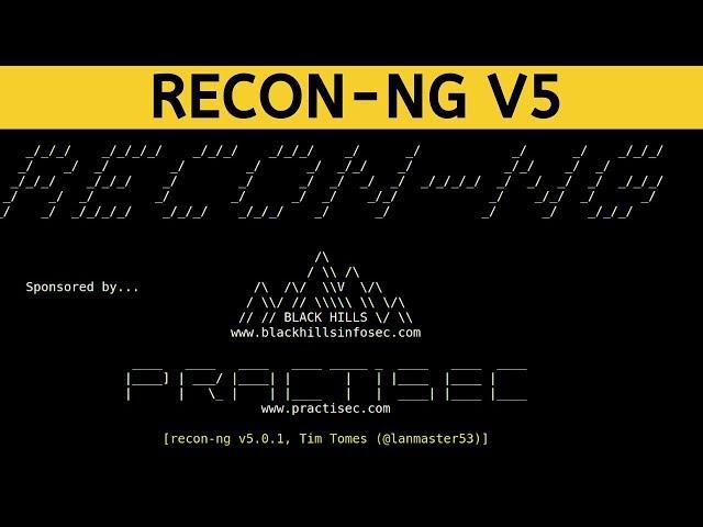 Recon-ng V5 - Generating Reports