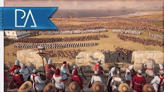 SIEGE OF TROY - Beach Landing & Wall Battle - Total War: ROME 2