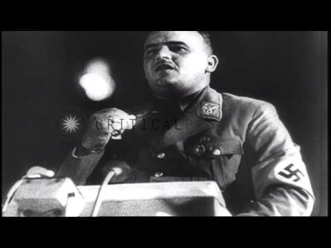 Vyacheslav Mikhailovich Molotov and Robert Anthony Eden sign the Moscow document ...HD Stock Footage