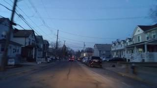Driving by Mariners Harbor in Staten Island,New York