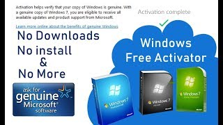 Windows7 ultimate 32 bit and 64 bit genuine product key problem fix with slui and cmd
