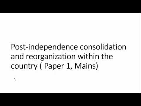 Official language Problem In Independent India:  Post India Consolidation, Paper I