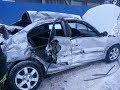 Ужасное ДТП в Кемерово. Маршрутка впечатала легковушку в больницу