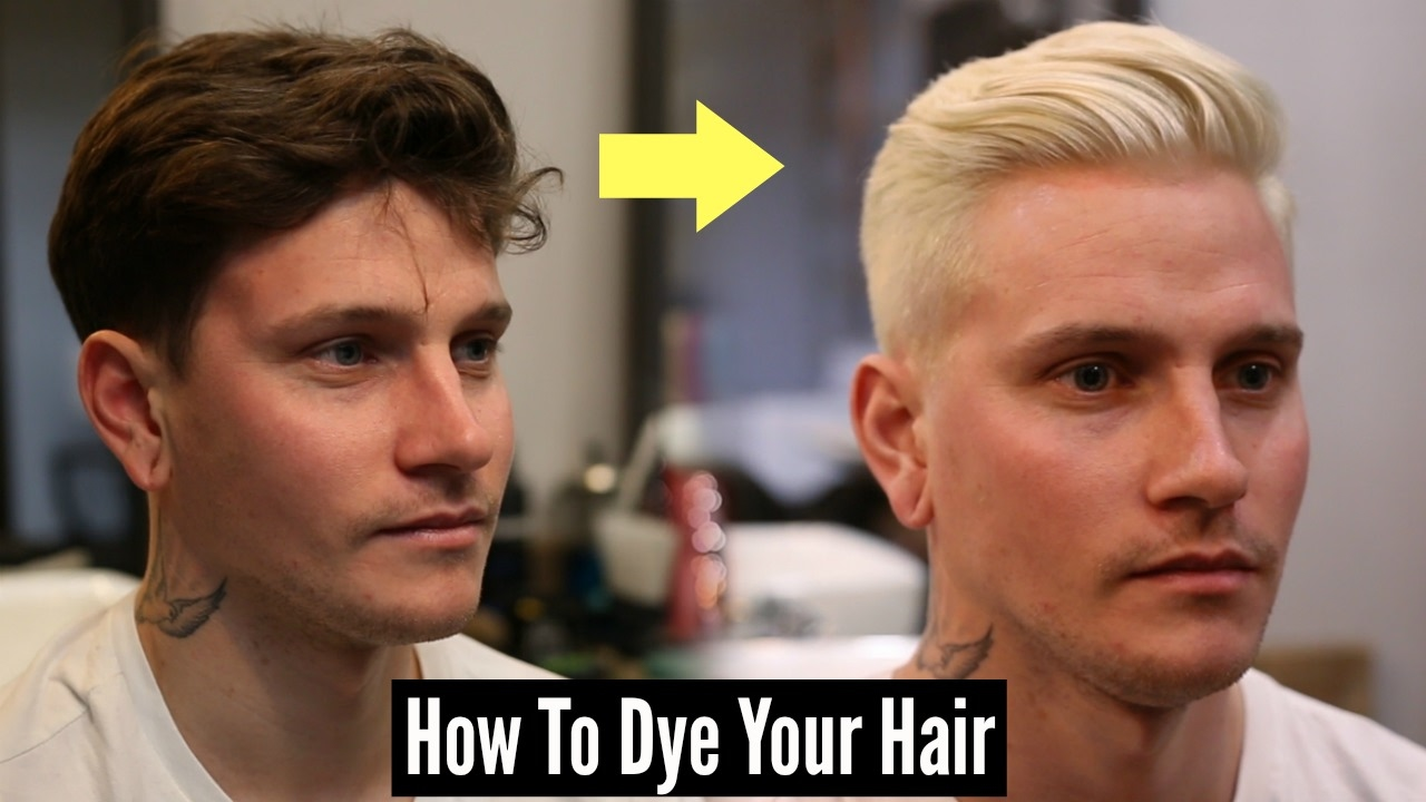 How To Dye Your Hair Platinum Blonde Mens Hair Tutorial 2018 Youtube