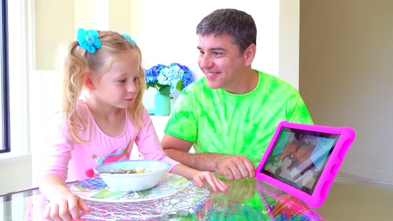 Download Nastya dan ayah menunjukkan apa yang terjadi jika YouTube pergi