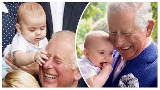 Adorable Prince Louis Grabs Grandfather Prince Charles's Nose! - Four NEW Photographs!