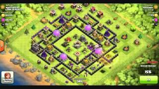 Clash of Clans - 32 Hog Rider attack fail!