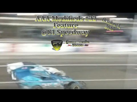 Easy Pay AAA Modified Division Feature #14, 81 Speedway