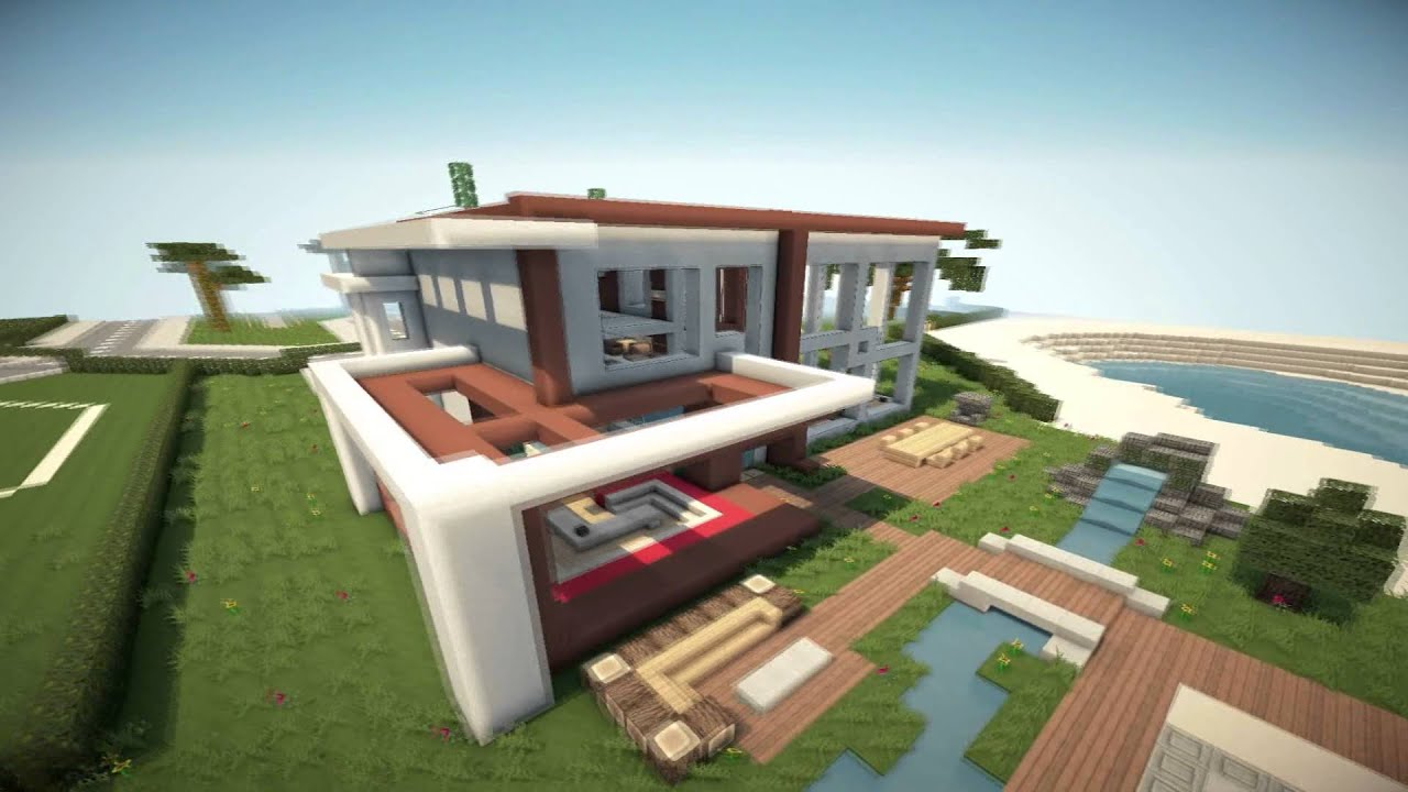 Minecraft modern house 6 modernes haus hd youtube for Minecraft haus modern