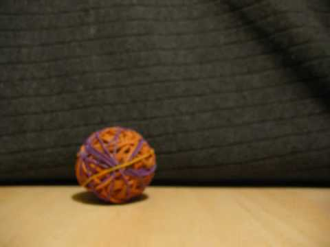 ball driven by band Swinging rubber