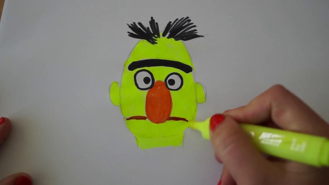 a59428479d Bert malen aus Sesamstraße - draw Bert from Sesame street - рисовать ...