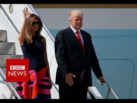 G20  SUMMIT: President Trump arrives in Germany- BBC News