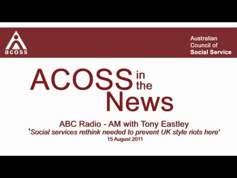 ACOSS in the News - ABC Radio AM 15/8/11