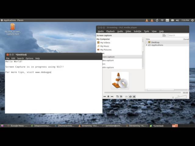 Record Desktop Screen Capture using VLC - DebugPoint com