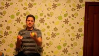 Как научиться жонглировать четырьмя шарами (4 мячами) - обучение за 1 минуту