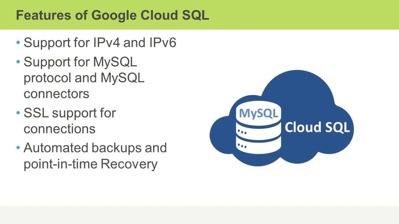 Google Cloud SQL for Developers: Benefits and Features of Cloud SQL -  Skillsoft Short Videos