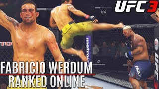 Fabricio Werdum! I ALWAYS LOSE Like This! EA Sports UFC 3 Ranked Online Gameplay