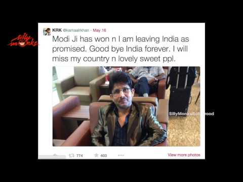 KRK Leaves The Country As Narendra Modi Wins Elections 2014