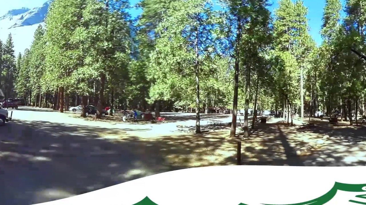 upper pines campground yosemite national park - 360 video virtual