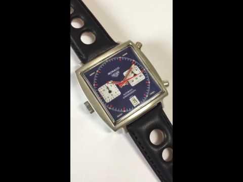 Vintage Heuer Monaco Custom Chronograph Watch