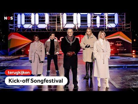 TERUGKIJKEN: Kick-off van het songfestival