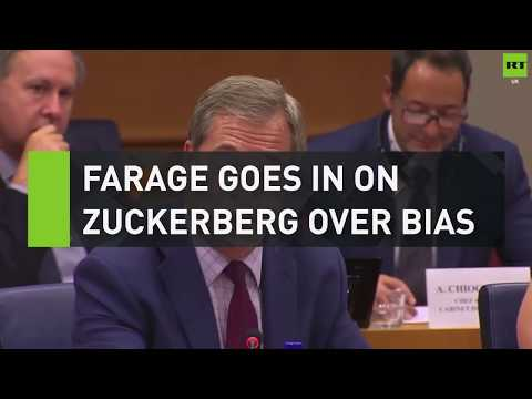 Farage goes in on Zuckerberg over Facebook bias
