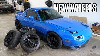 New Drift Spec Wheels for the Turbo Miata!