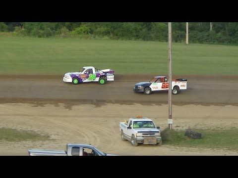 Pro Truck Heat Race #2 at Crystal Motor Speedway, Michigan on 07-22-2017.