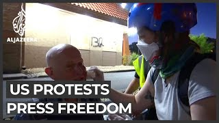 Press freedom violations reported at US protests