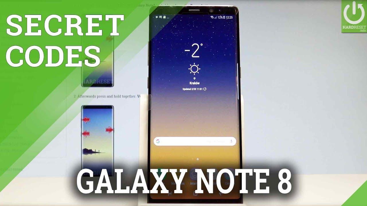 Secret Codes in SAMSUNG Galaxy Note8 - Hidden Mode / Tricks