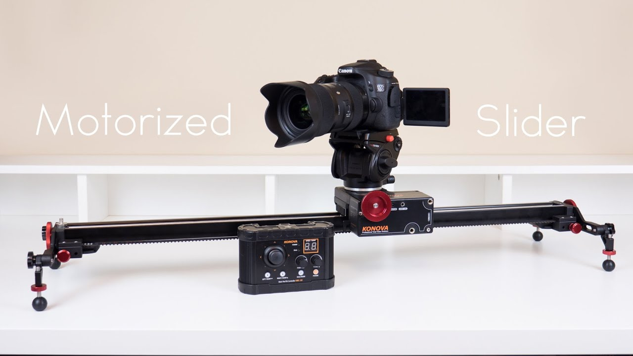 Konova k5 motorized slider kit review youtube Motorized video slider