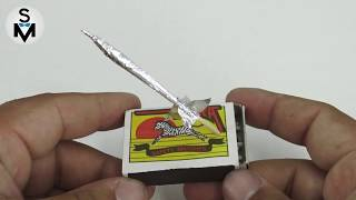 How to Make a Mini Rockets from Matches and Aluminum foil