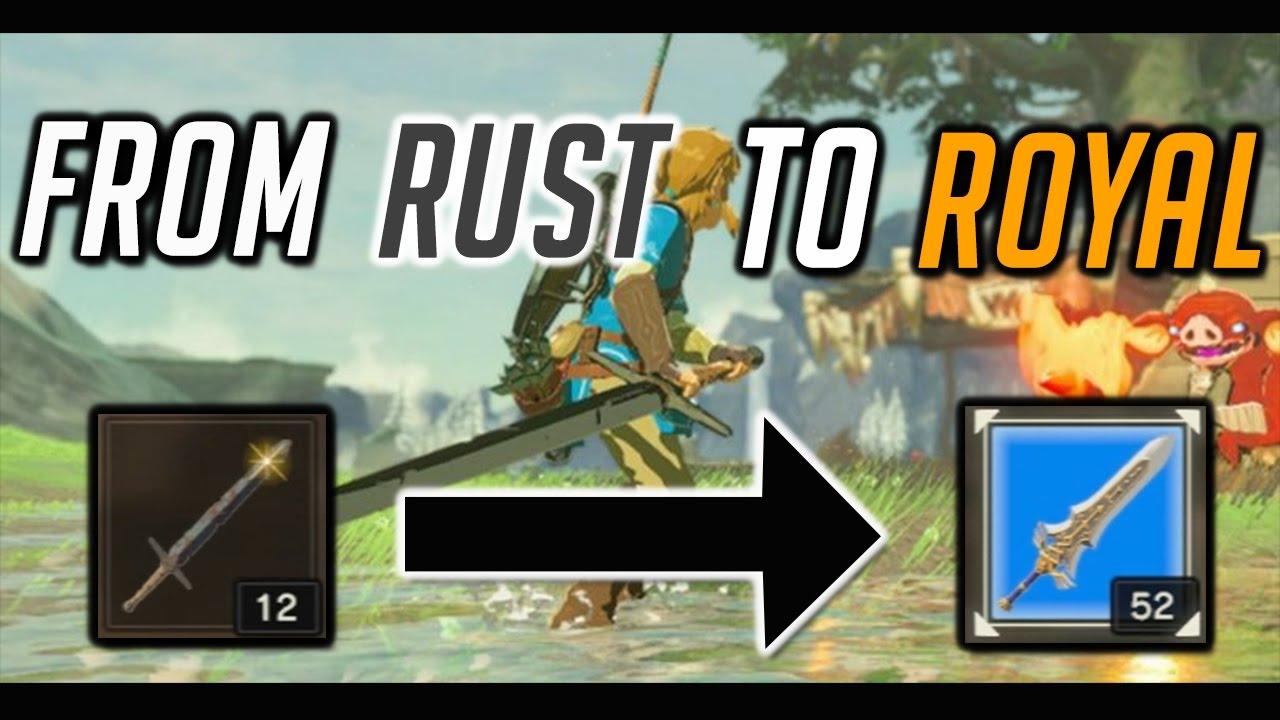 Zelda: BOTW From Rust to Royal! #BreathOfTheWild