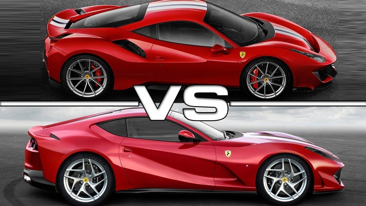 2019 Ferrari 488 Pista vs 2018 Ferrari 812 Superfast - YouTube