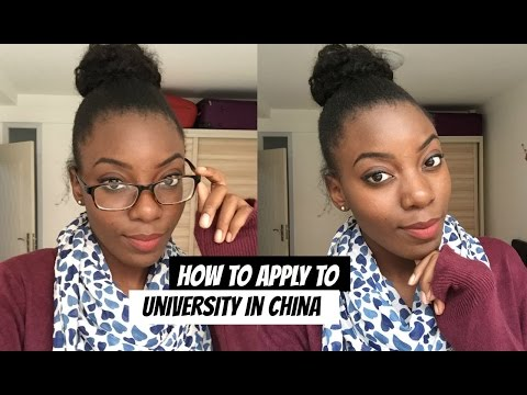 APPLY TO UNIVERSITY IN CHINA.