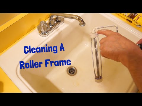 Cleaning a Roller Frame