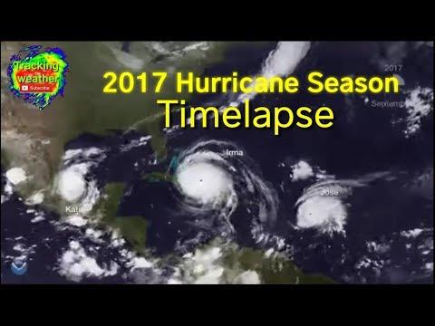 2017 Atlantic Hurricane Season Timelapse Video