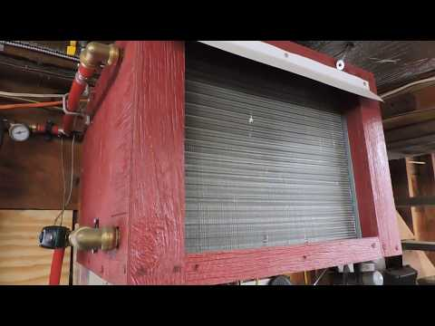 Wood Boiler Hot Water Heat Exchanger and  Forced Air Garage Heat