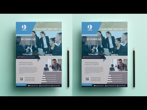 Photoshop Tutorial ।  how to create a flyer in Photoshop । DG TUBE thumbnail
