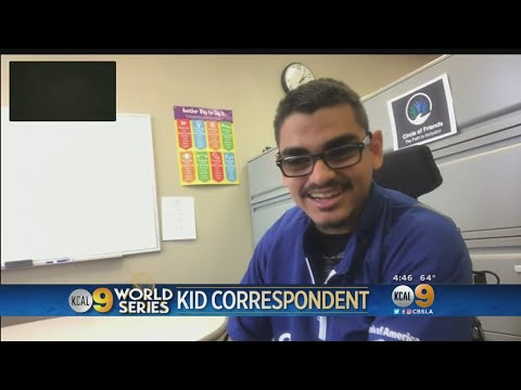 World Series Kid Correspondent: Tough Time Accepting Dodgers Defeat