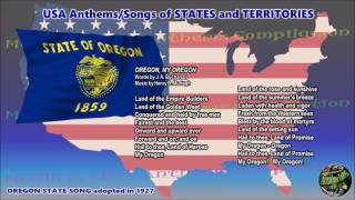 Oregon State Song OREGON, MY OREGON with vocal and lyrics
